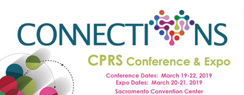 Come see us at CPRS 2019 – March 19-22 – Sacramento Convention Center